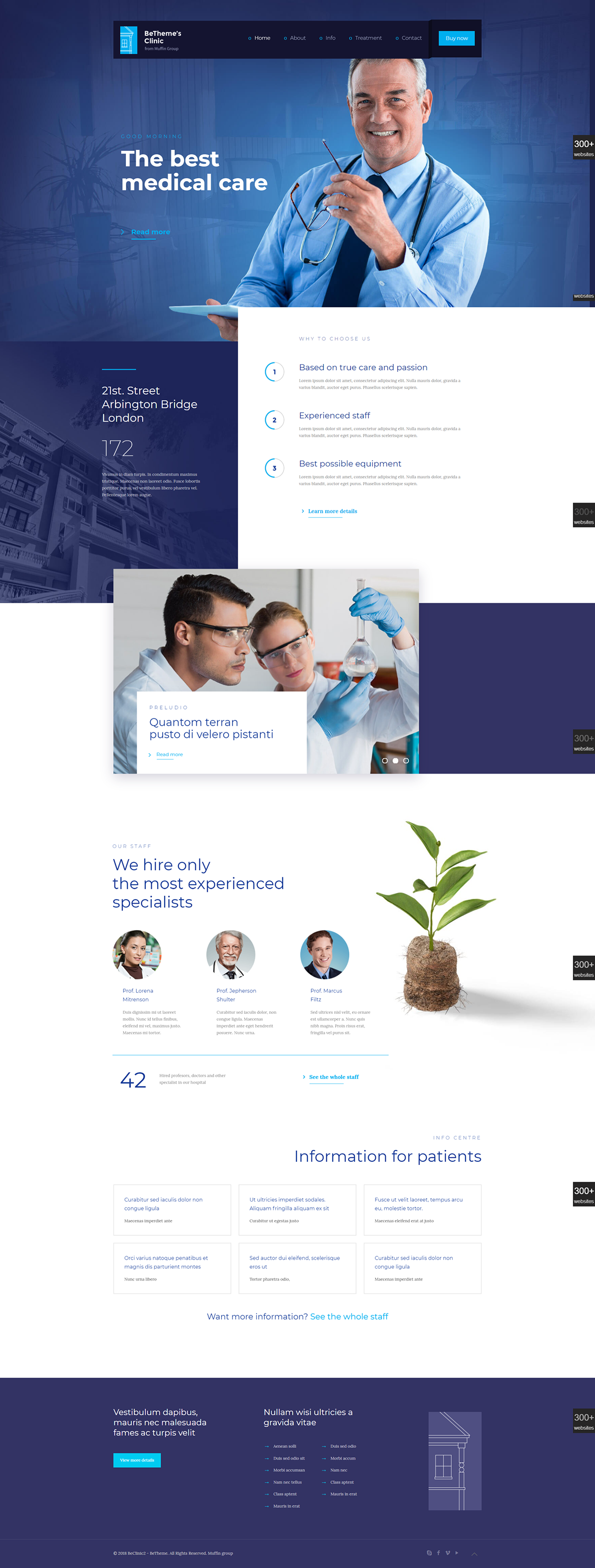 Clinic wordpress business website template design on behance contact me for web development service mehedidityahoo clinic wordpress website friedricerecipe Gallery
