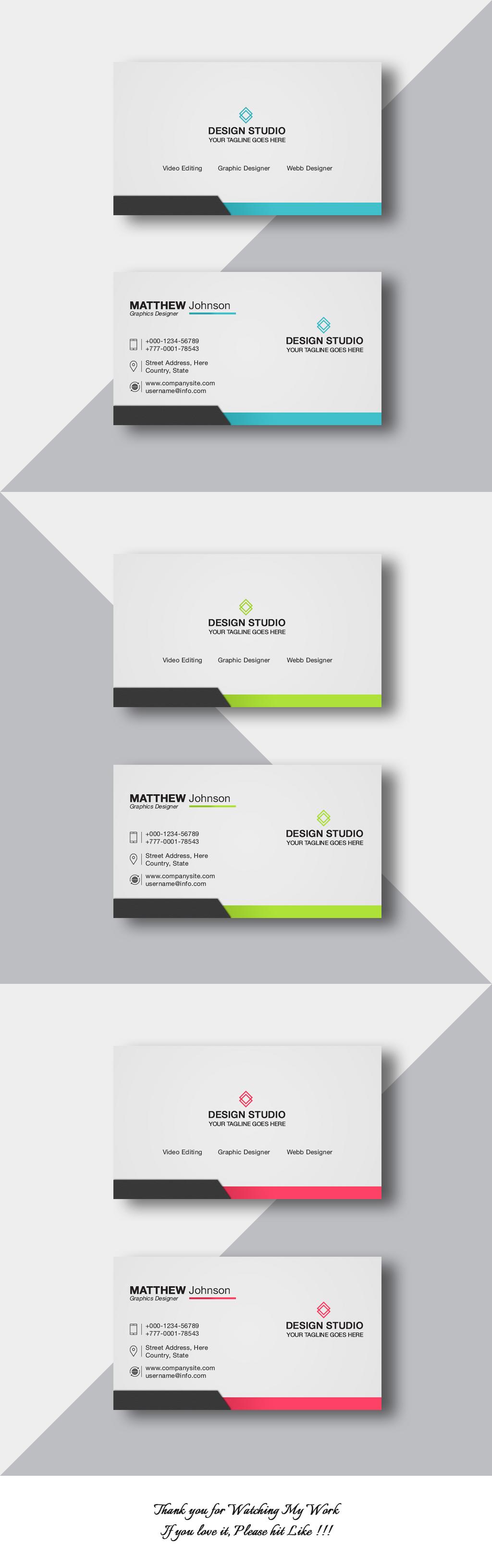Free Business Card Design Templates Psd On Behance