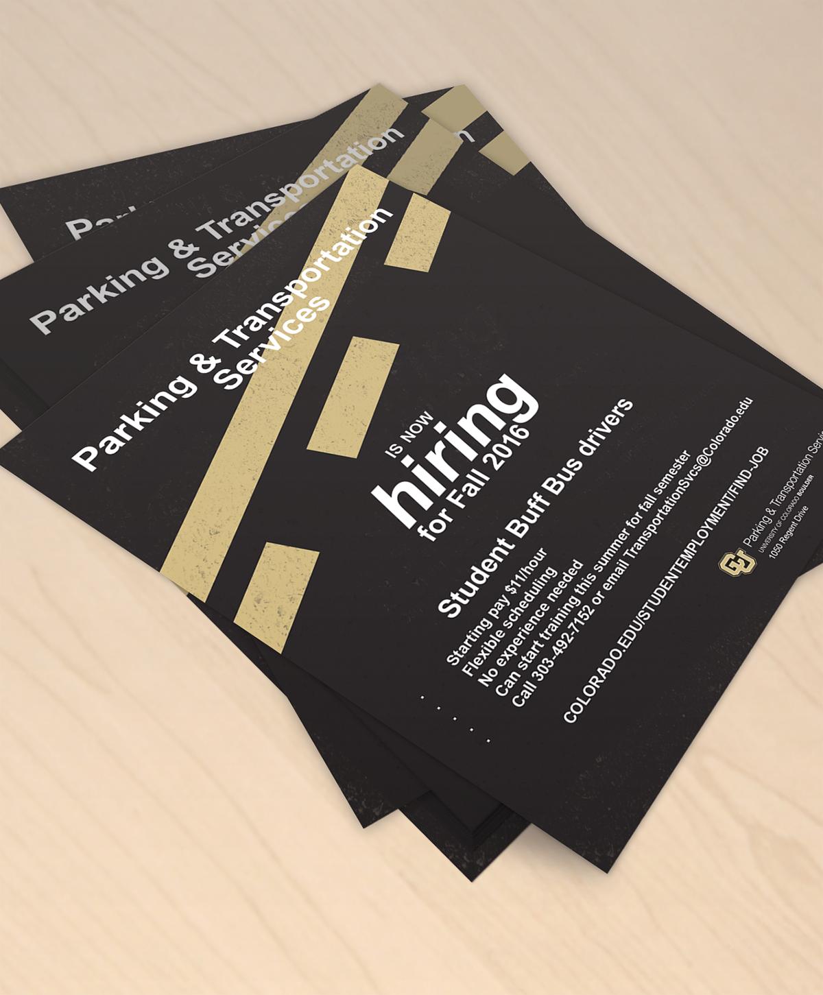 print employment flyers on behance