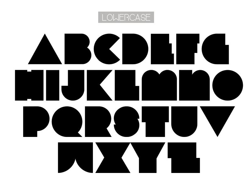 type font freefont Typeface freebies geometric bauhaus minimalist minimal