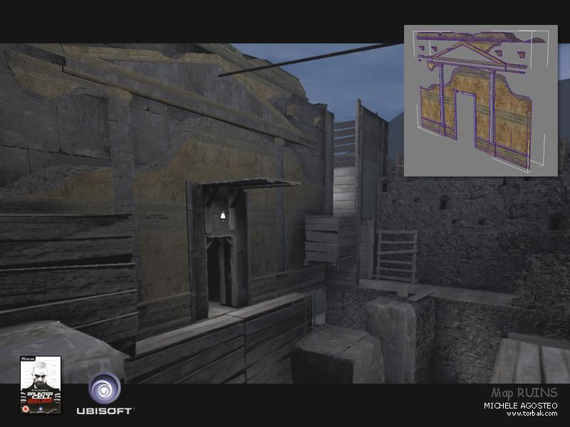 videogame map splinter cell 3D environment