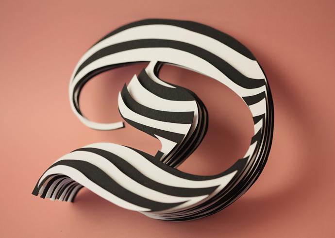 Jerome corgier slowly please letter paper typographic works art pariri