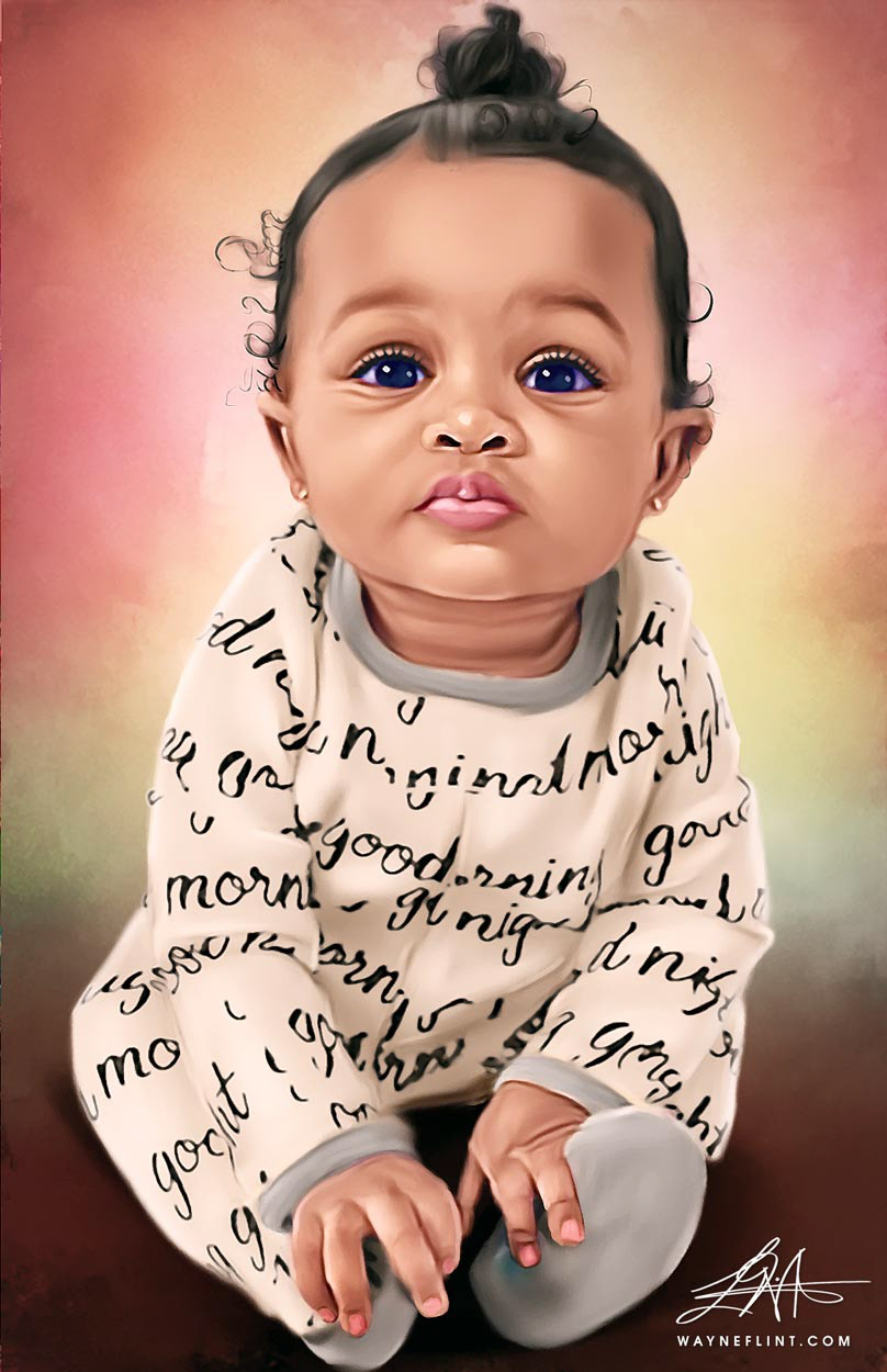 art artwork babies Beautiful canvas infant Paintings photoshop portraits prints sketch gallery toddler toys Wayne Flint