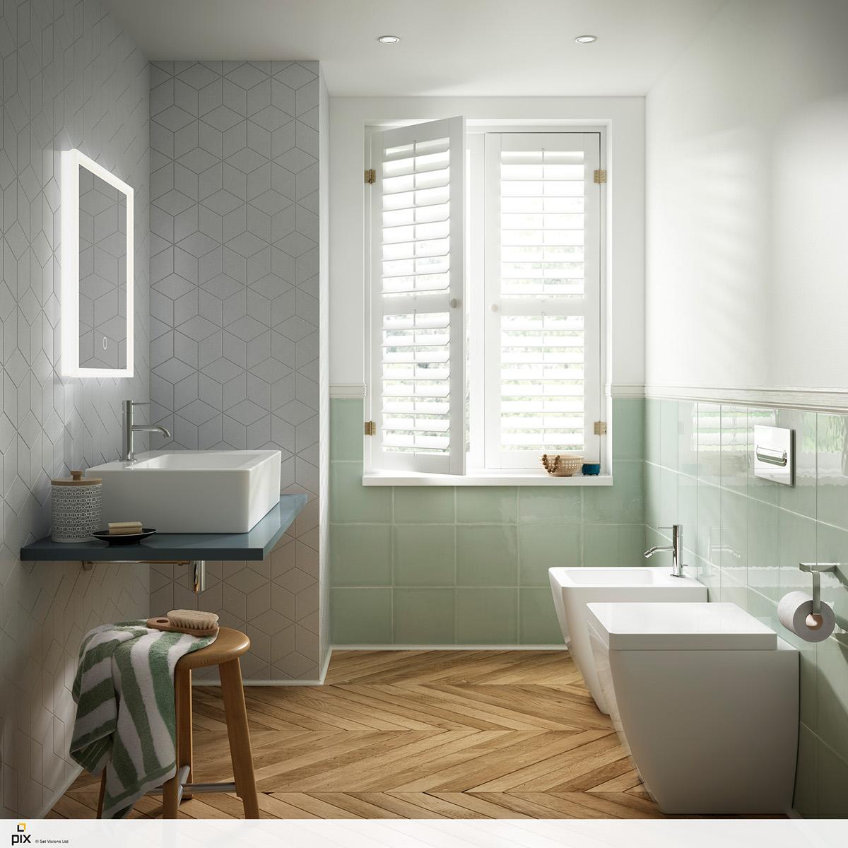 Compact Pantone bathroom on Behance