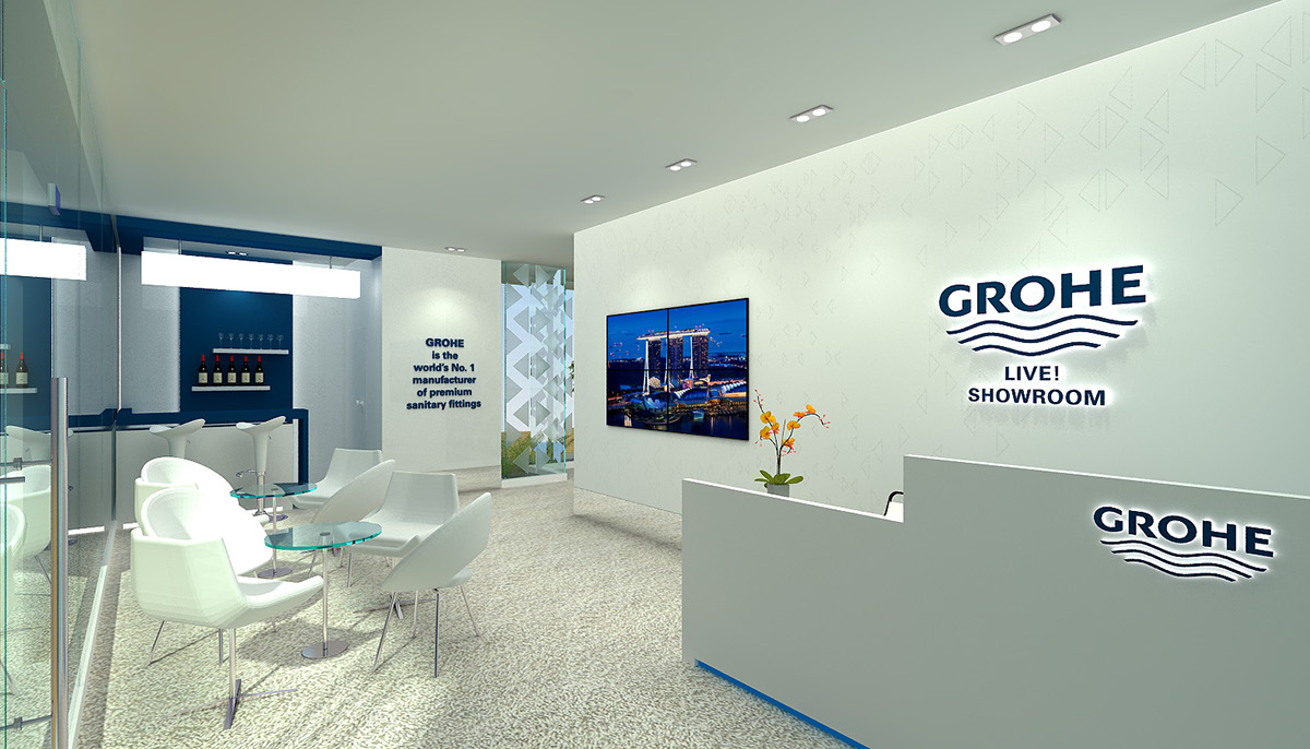 Grohe showroom on behance for Showroom grohe barcelona