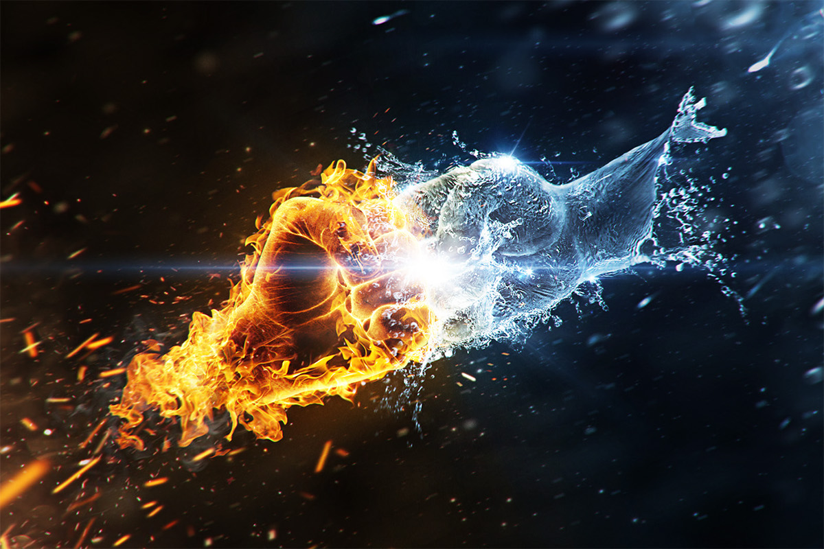 Fire vs. Water on Behance
