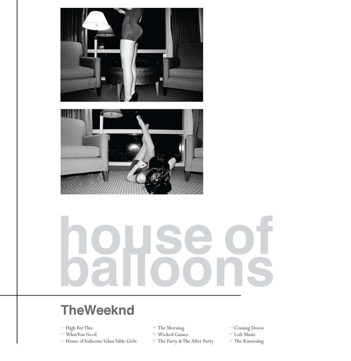 The Weeknd House Of Balloons Album Cover Redesign On Behance