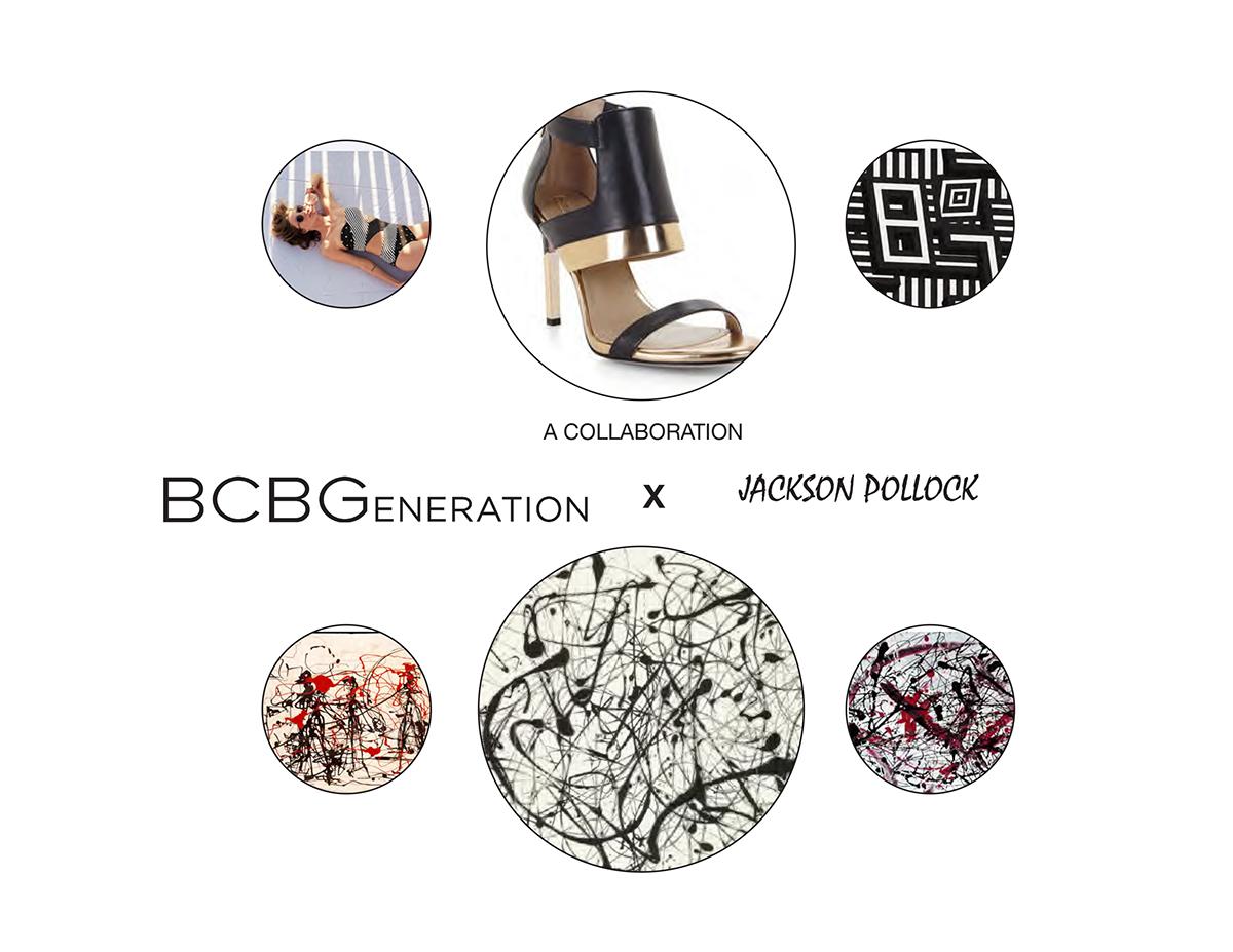 pollock accessory design footwear design BCBG print