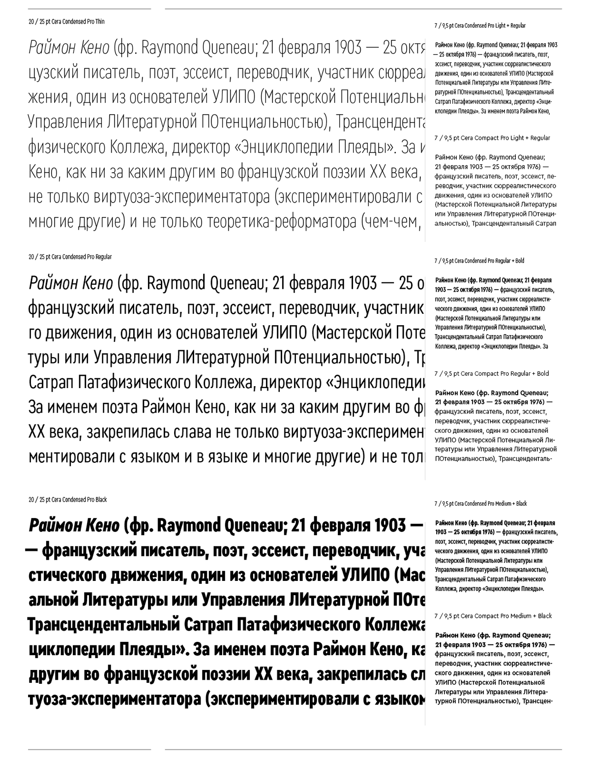 Cera Condensed & Compact Pro on Behance