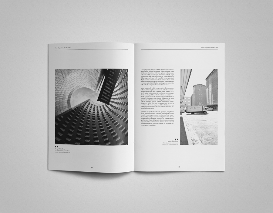 InDesign magazine template Multipurpose clean simple minimal a4 letter magazine clean layout creative easy modern stylish