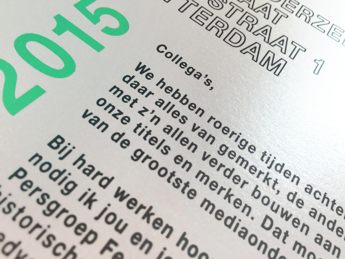 card Invitation a5 party green Majestic