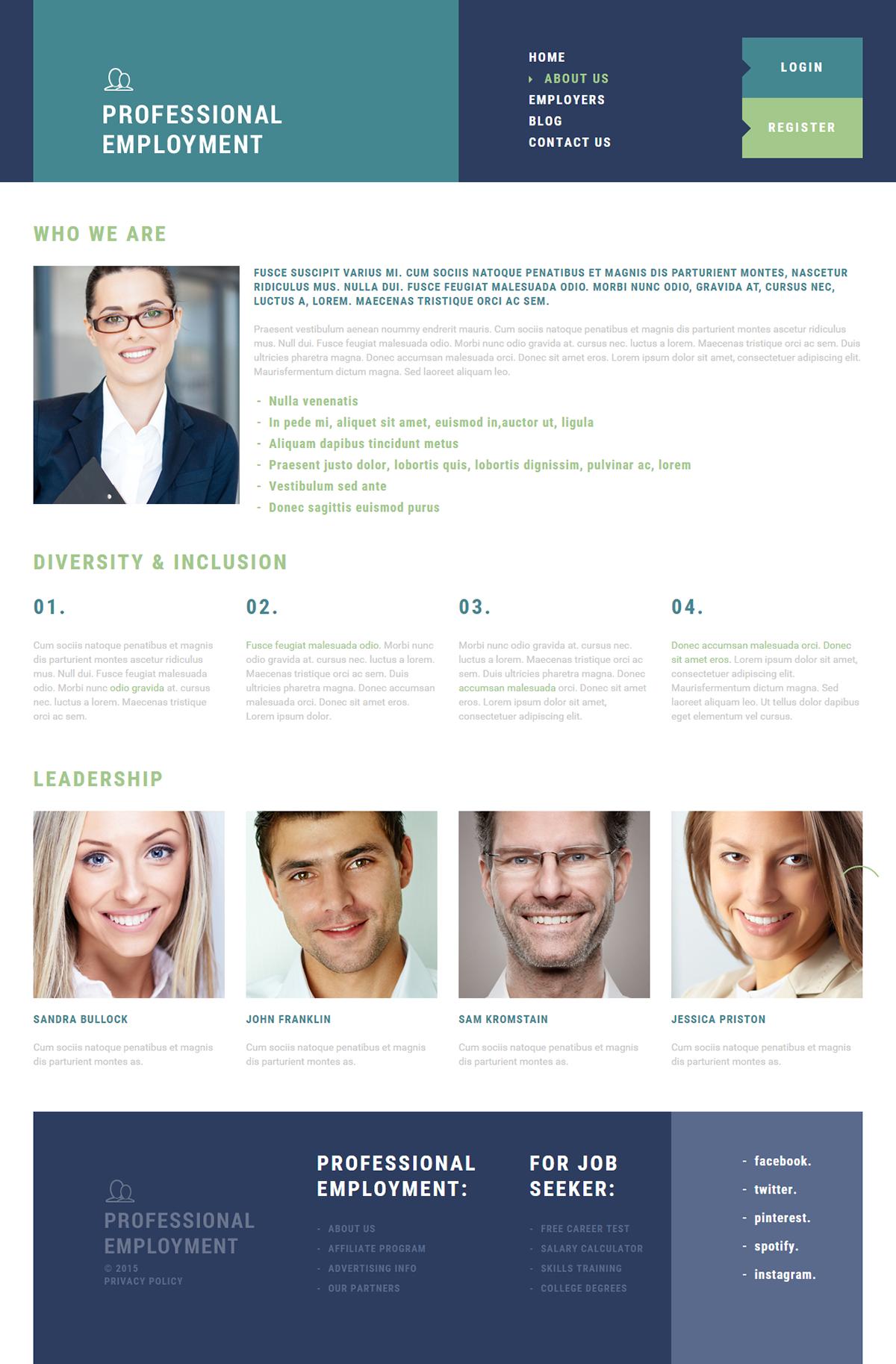 human resources joomla template on behance