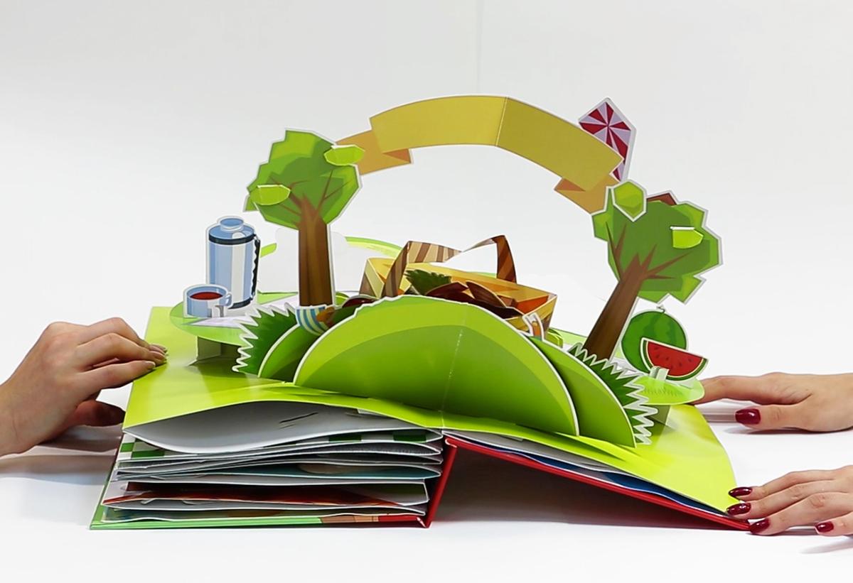 Как сделать раскладушку книгу