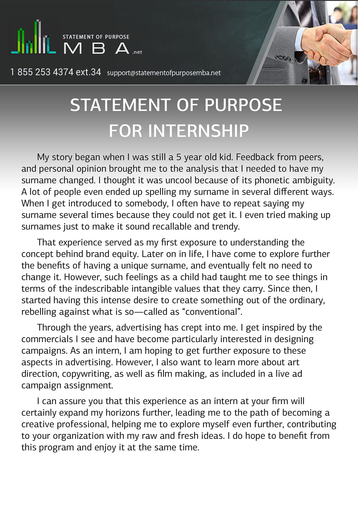 statement of purpose for internship sample on behance we are professional internship writer and writing a statement of purpose for internship is our best service you can check our sample at