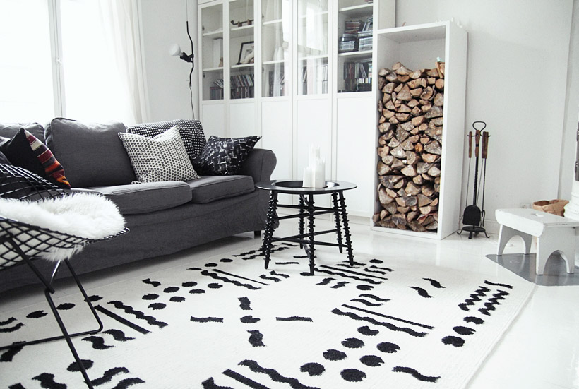 carpet Rug dots pattern geometric Pacman design