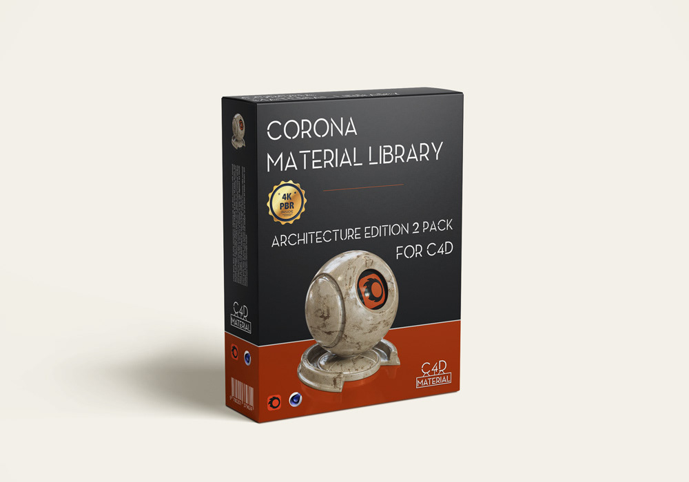 Corona material pack for cinema 4D - 4K PBR texture