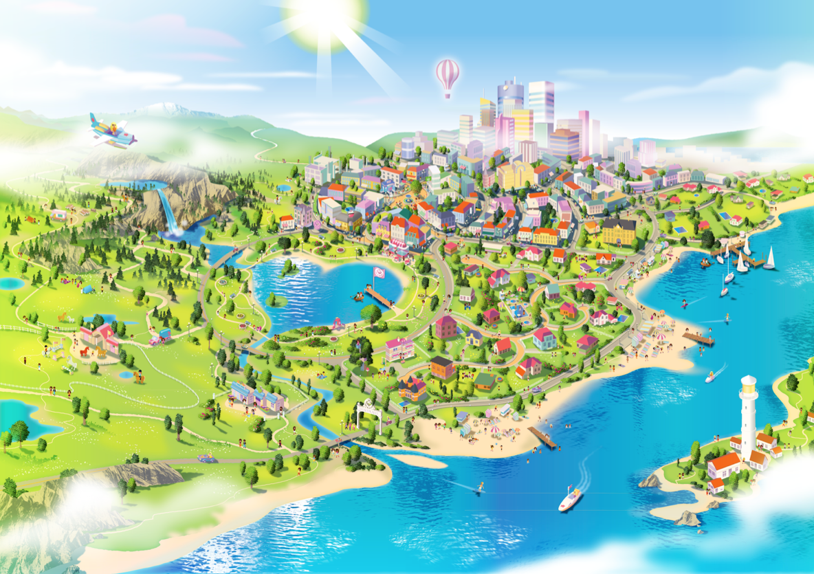 Lego friends map on behance gumiabroncs Images