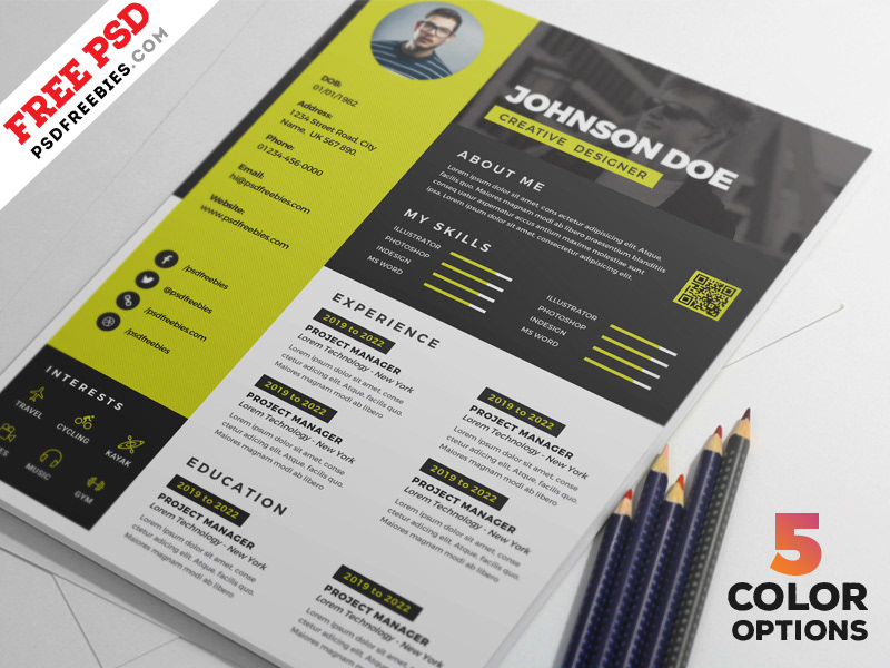Download Free Awesome Resume CV Design PSD Bundle A Are Easy To Use And Customize So You Can Quickly Tailor Make Your