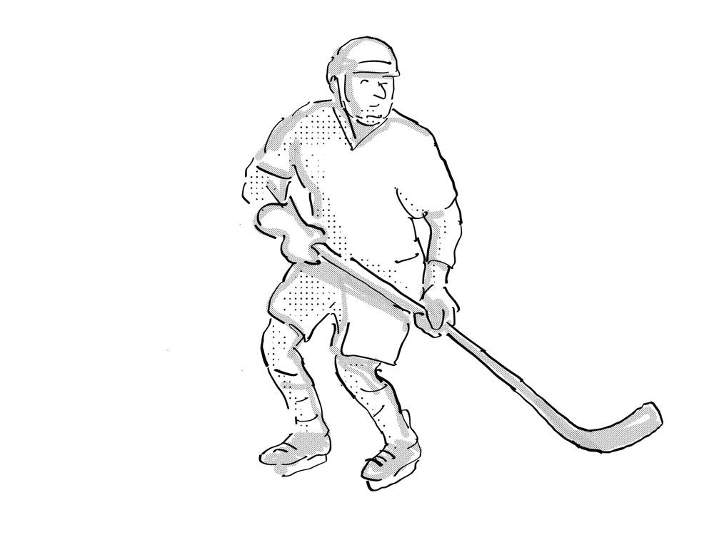 Ice Hockey Player Cartoon Isolated On Behance