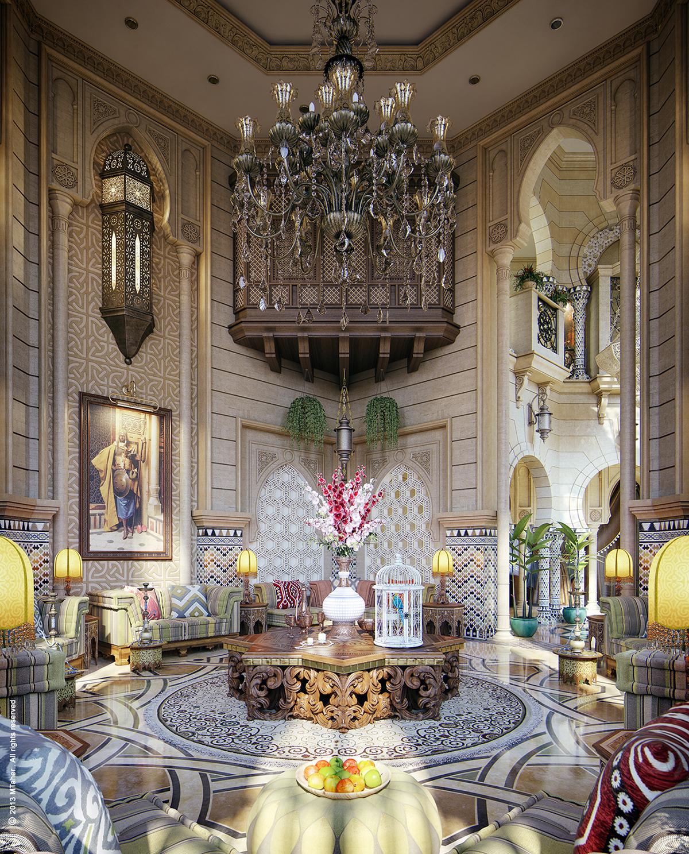Luxury Mansion Interior Qatar On Behance: Moroccan Majlis On Behance