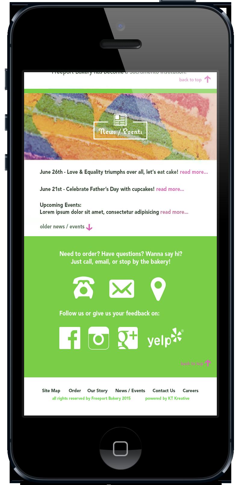 Freeport Bakery Mobile Site On Behance