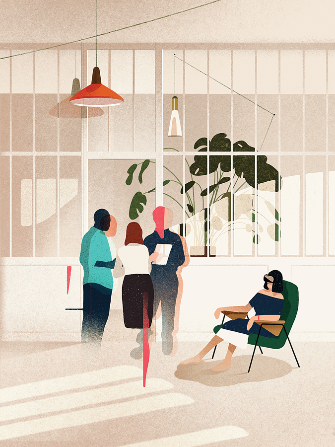 Technology editorial texture digital ILLUSTRATION  business working graphic Interior Plant