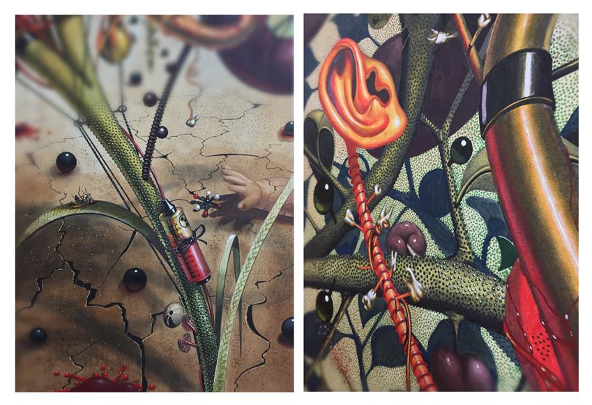 Samuel Gomez,color,garden of eden,harvest,organs,doll,Organoids