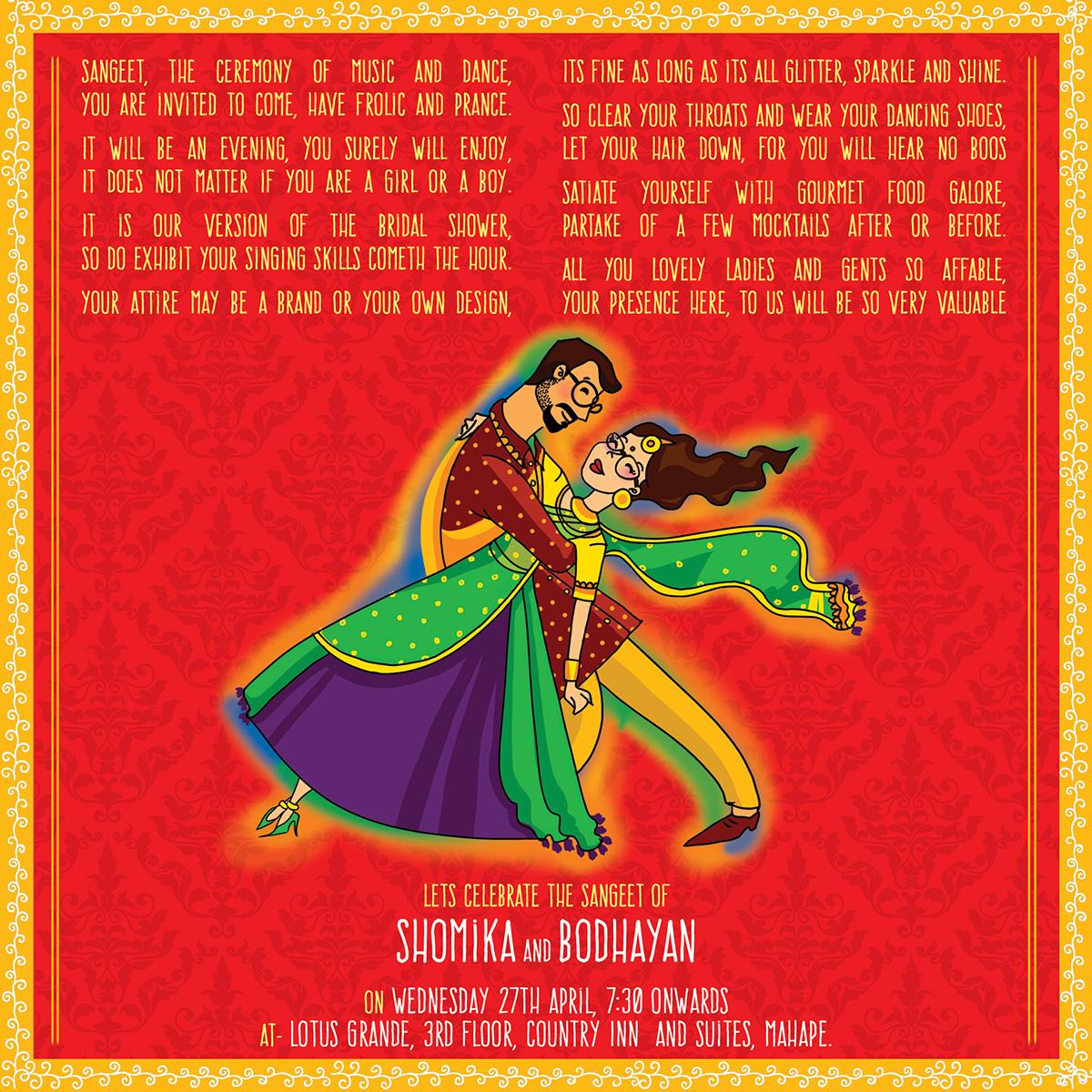 indian wedding cards on behance