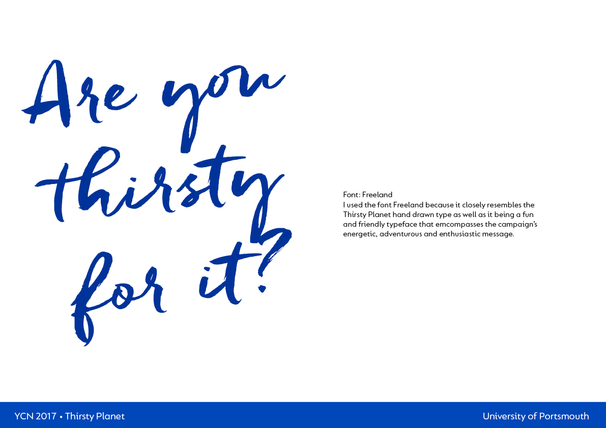 Adobe Portfolio branding  Ethical product Thirsty Planet  ycn graphics design Photography