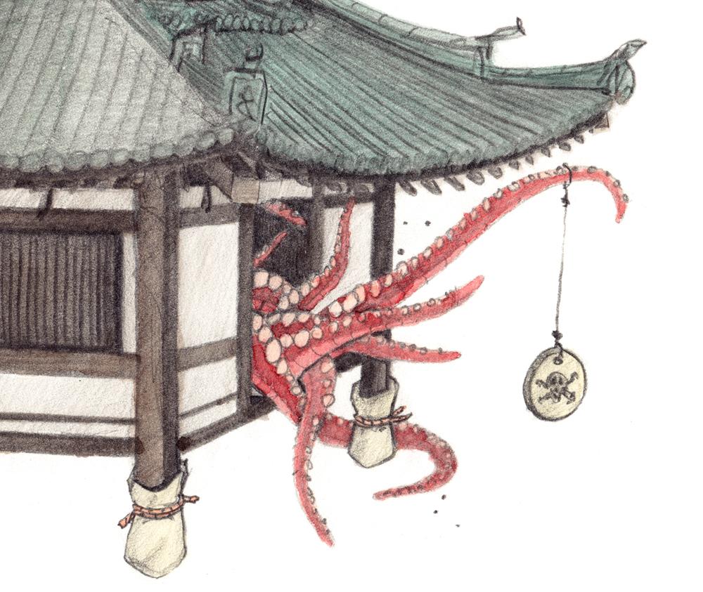 japan japanese temple temples philipp zurmöhle philipp zurmoehle art artwork artworks series pencil aquarelle watercolor watercolour