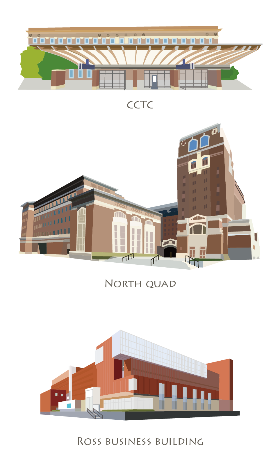 University Of Michigan Central Campus Map On Behance