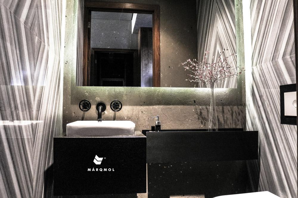 Nix y m rmol con cubiertas y acabados marqmol on behance - Banos con marmol ...