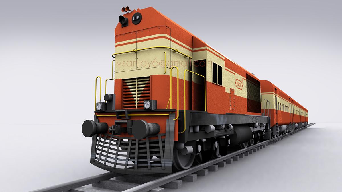 Indian Train 3D model | Graphic Design | IndieFolio