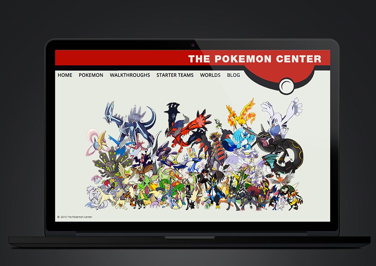 Adobe Portfolio Pokemon Web Website webpapge web page