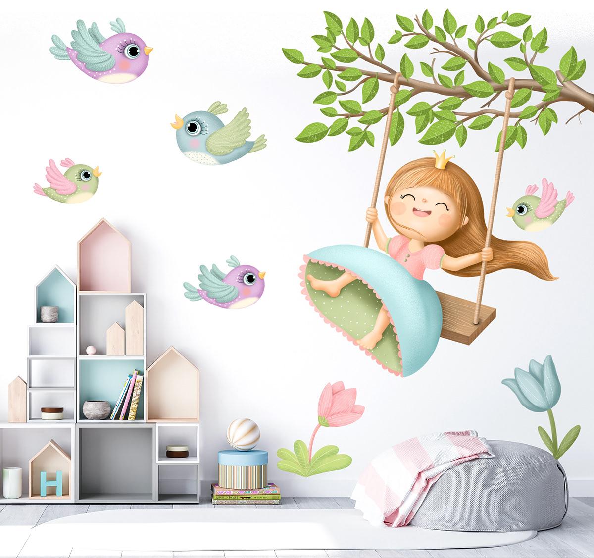 bird girl ILLUSTRATION  Princess