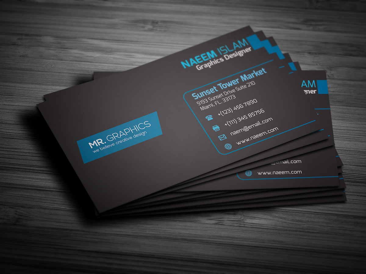 latest business card on behance