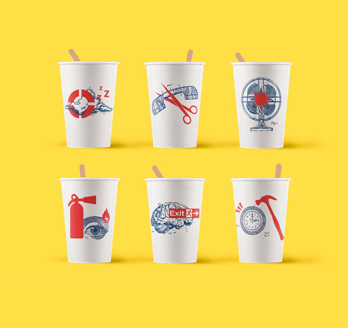 vending,vaso,plastic glass,Illustation,Illustrator,adobe,red,blue,cup