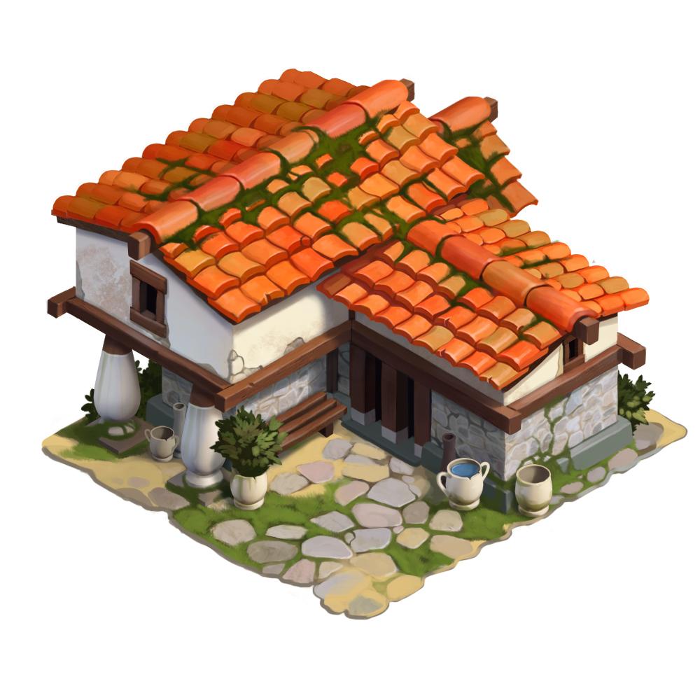 Ancient Greek House On Behance