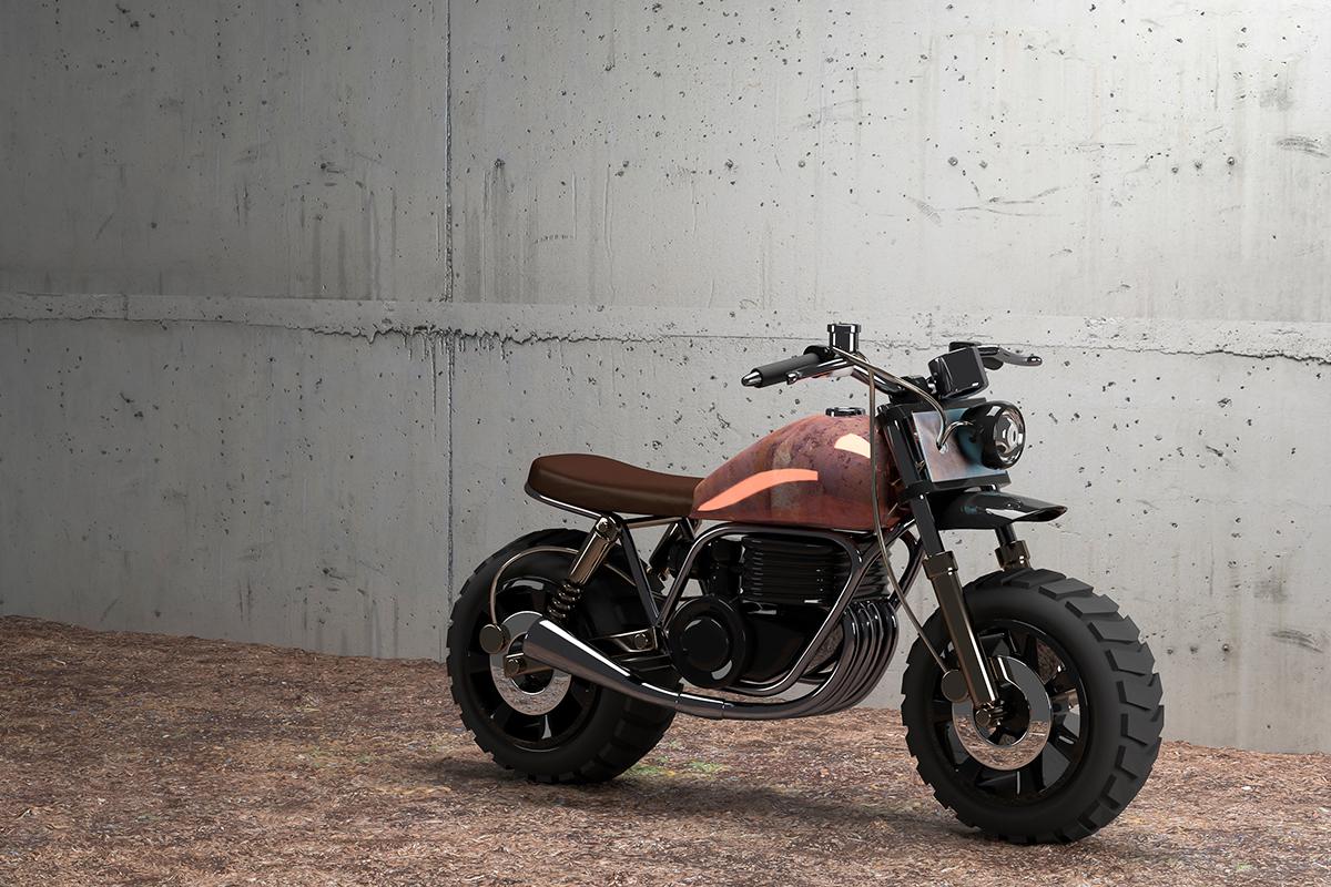 motorcycle,tracker,3D,dirt