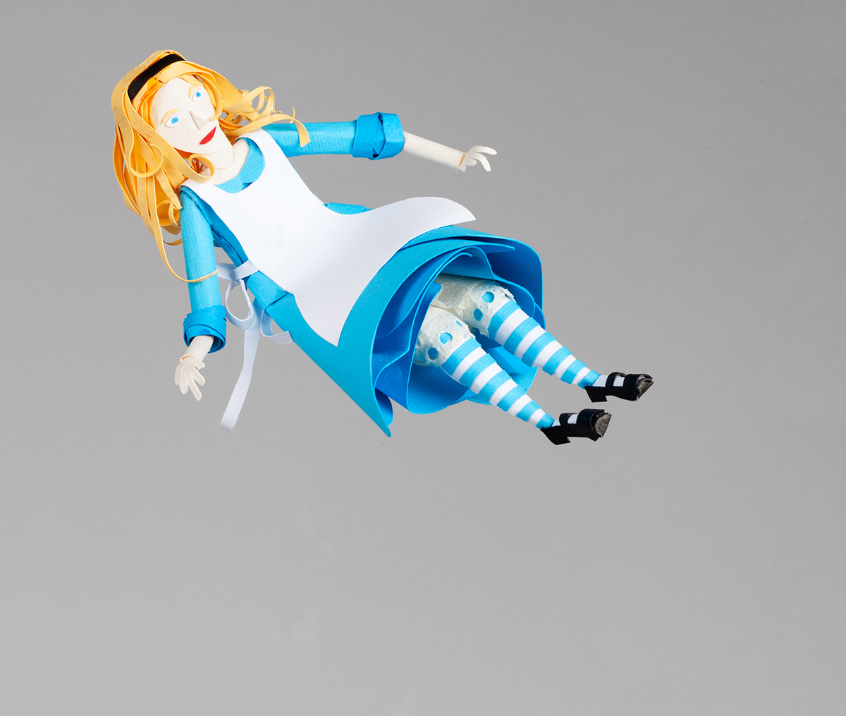 A for alice in paper wonderland on behance Alice and wonderland art projects