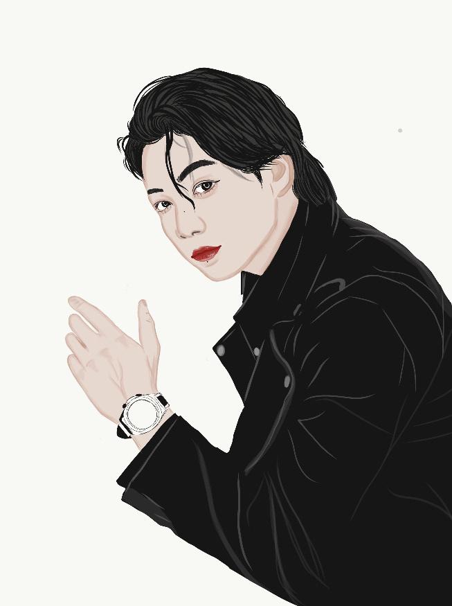 adobe draw,bts,BTS FanArt,Digital Art ,Digital Drawing,digital painting,Drawing ,ILLUSTRATION ,JUNGKOOK,jungkook fanart,kpop,kpop fanart,painting