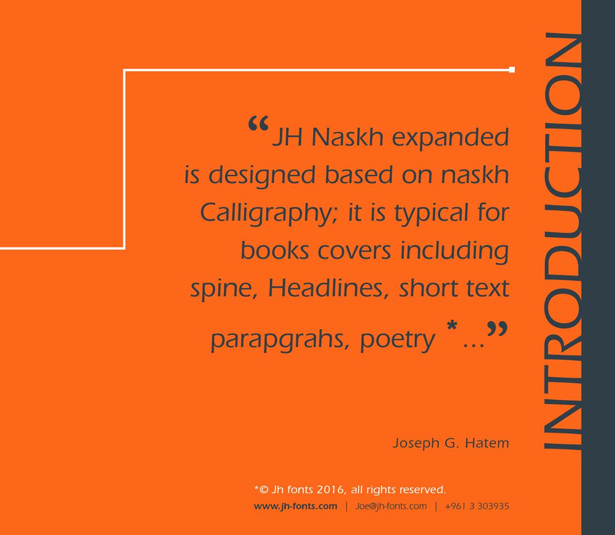 JH Naskh Expanded on Behance