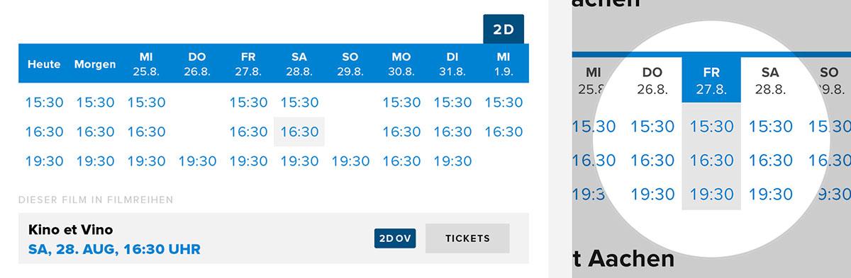 Cinema flat flat design kino movie ticket tickets