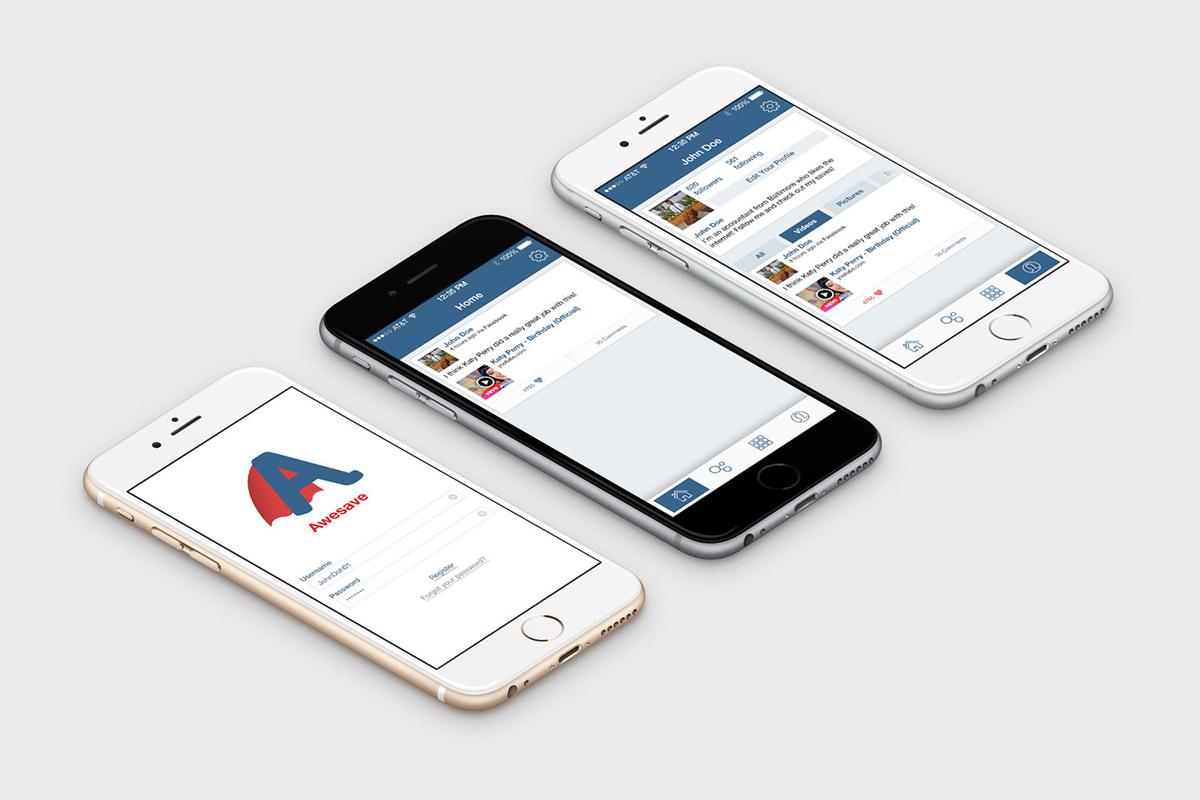 ios app design Web ux