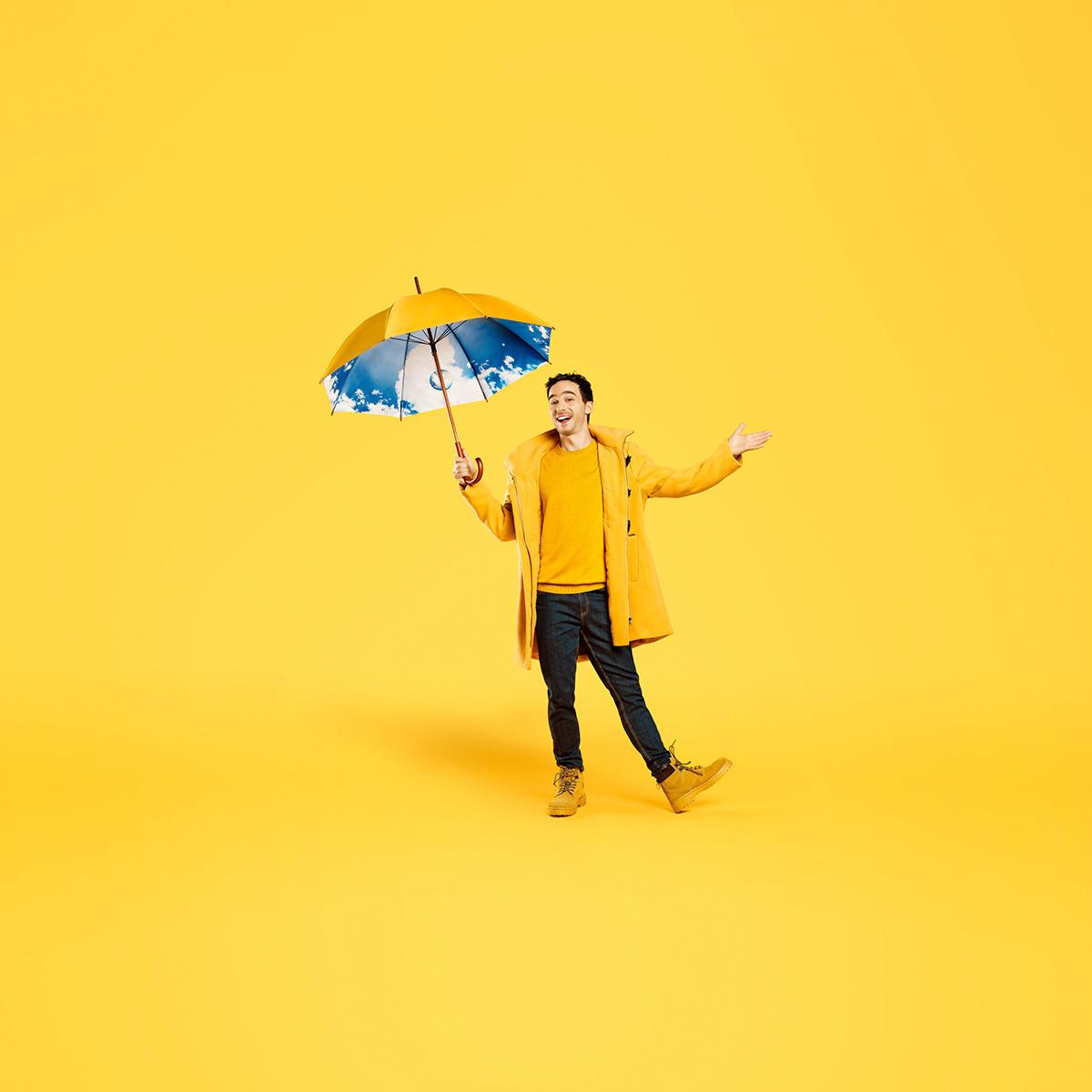 adobe Advertising  chile Copec digital Digital Retouch rain Umbrella wacom winter