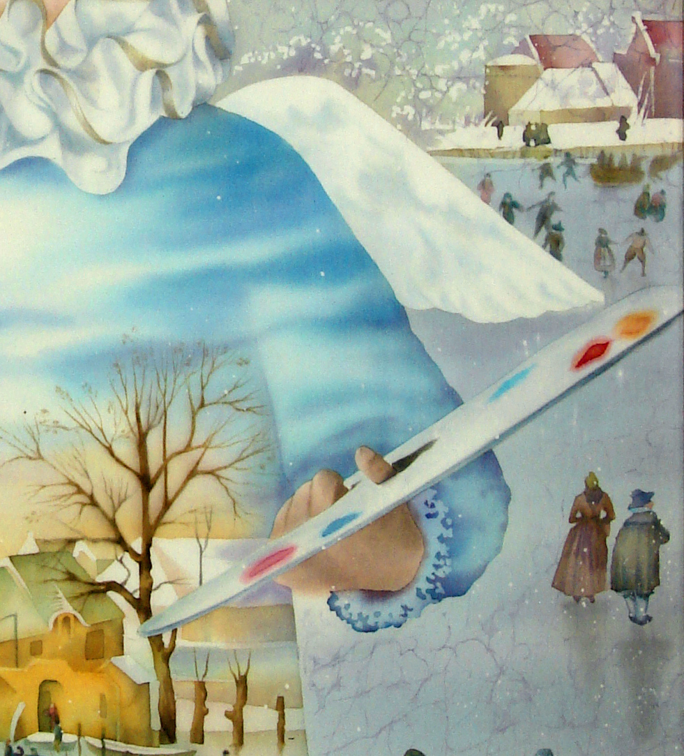 silk painting SILK batik winter paint Netherlands