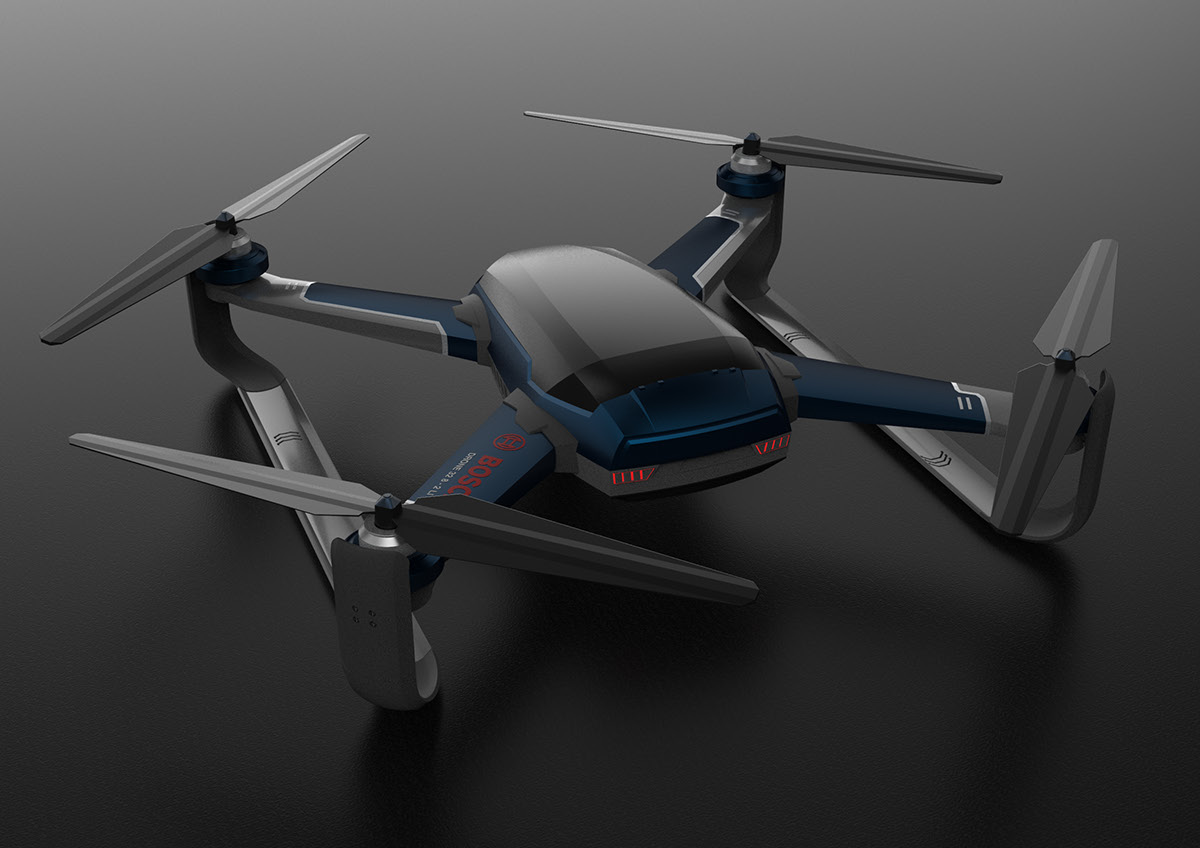 Bosch X Drone For Emergency On Pratt Portfolios