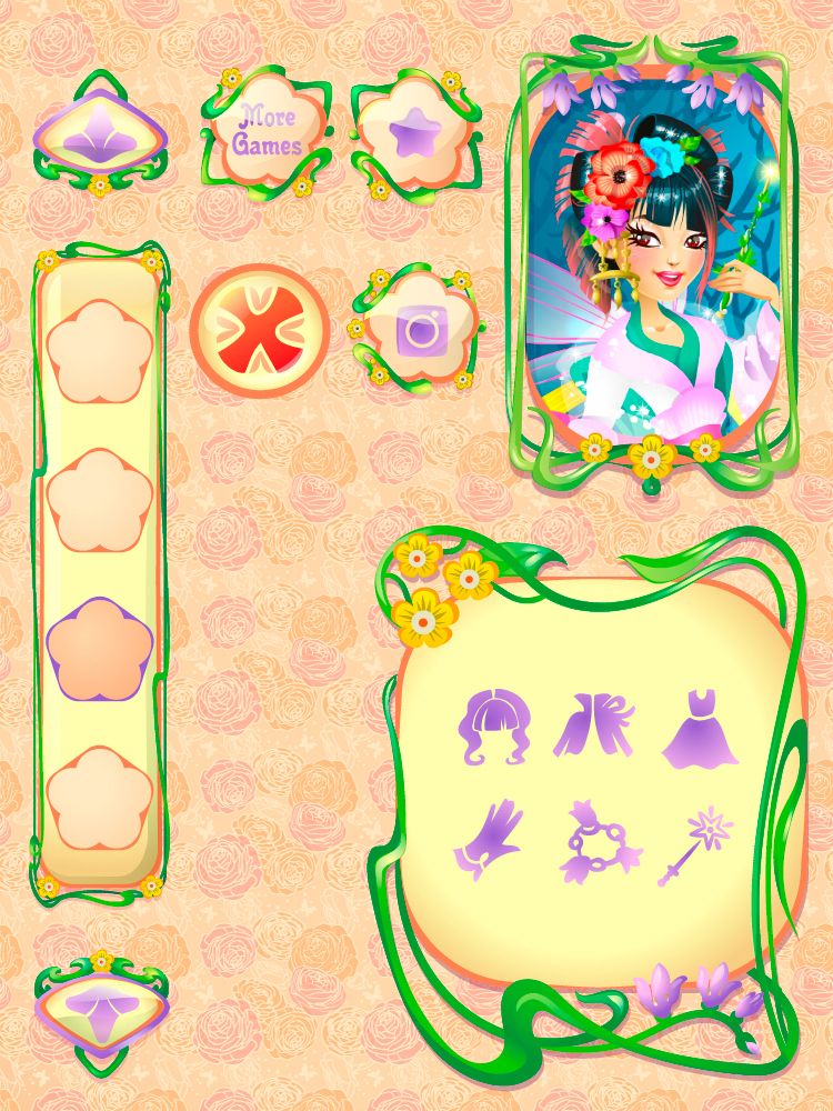 fairy neresta game background fantasy girl Fashion  vector dress