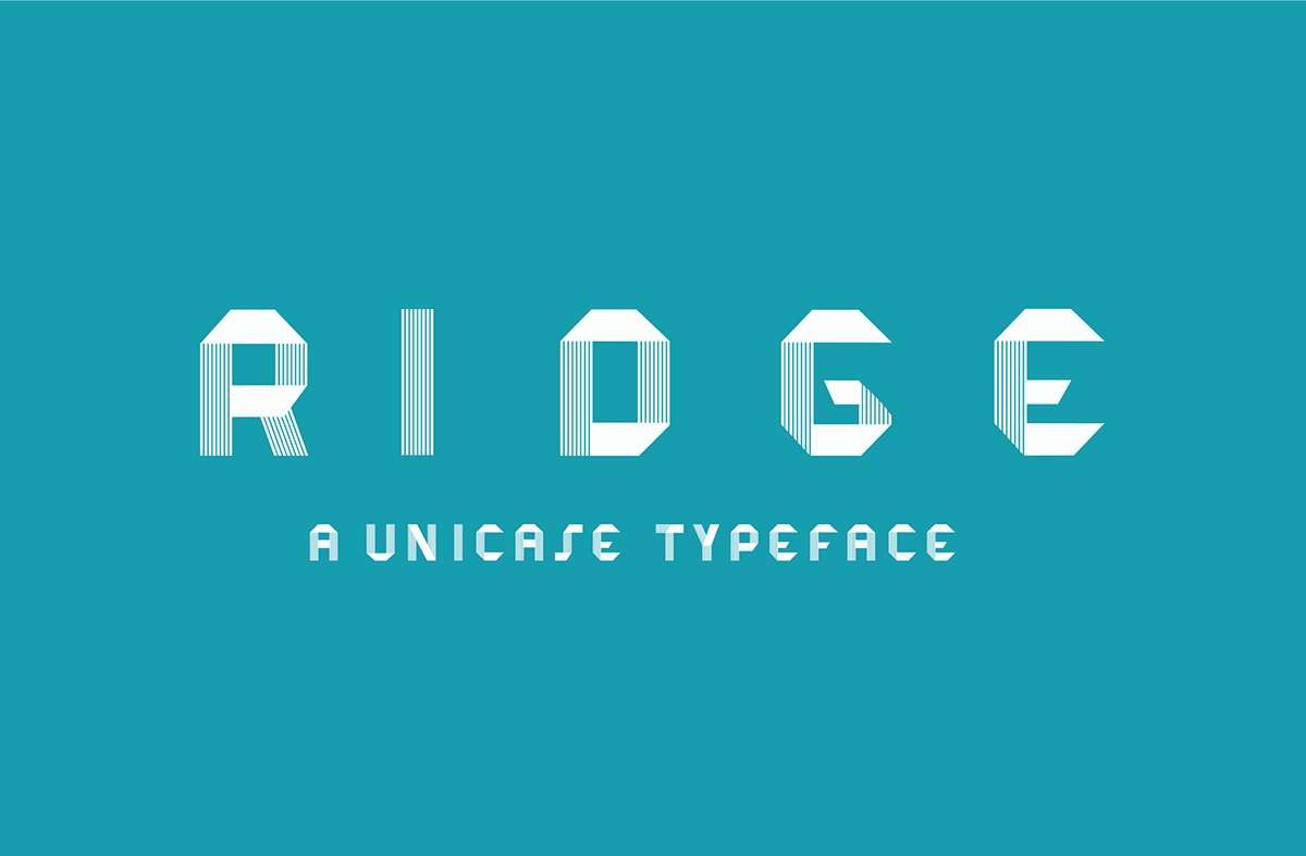 Typeface font free freebies download link type font family process Ridge unicase all caps free typeface