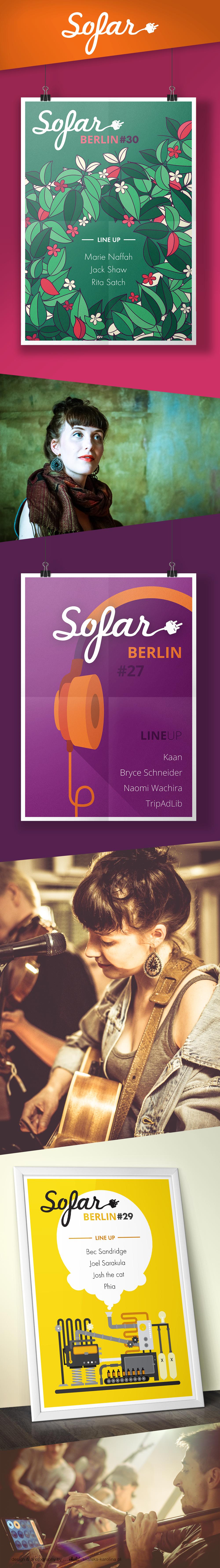 Sofar Berlin posters concerts